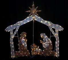 outdoor lighted nativity sets christmas lighted outdoor