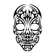 23 best tribal skull stencils images on skull