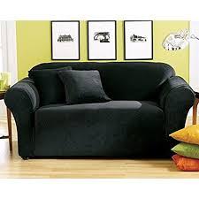 Black Loveseat Slipcover Amazon Com Sure Fit Stretch Pique Knit Loveseat Slipcover
