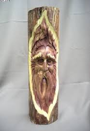 elwin designs carvings cedar wood spirit