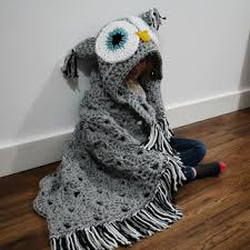 Crochet Owl Rug Bulky U0026 Quick Hooded Owl Blanket Pattern By Mj U0027s Off The Hook