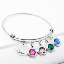 mothers birthstone bracelets buy a crafted child birthstone adjustable stackable