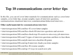 top 10 communications cover letter tips 1 638 jpg cb u003d1430535679