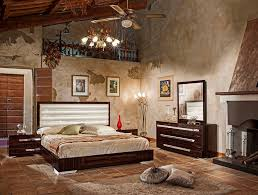 bedroom modern standing lamp wooden bed floor picture hanging fan
