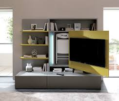 Contemporary Tv Table Contemporary Tv Wall Unit Lacquered Wood Modular With Built