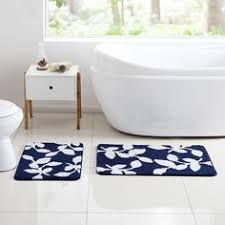 Navy Blue Bathroom Rug Set Elvoki 3 Piece Bathroom Rug Mat Set Memory Foam And Contour Rug