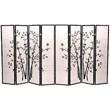 Panel Shoji Screen Room Divider - amazon com 8 panel black bamboo print oriental shoji screen