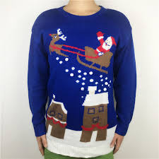 sweaters that light up light up santa claus sleigh sweaters