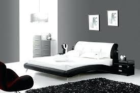 chambre noir et blanche chambre grise couleur chambre adulte en gris design chambre