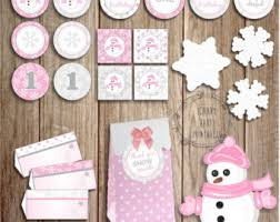 winter onderland favor tag winter onderland birthday