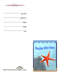 ocean printables free invitations for under the sea birthday