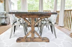 build a rustic dining room table making a wood table home plans