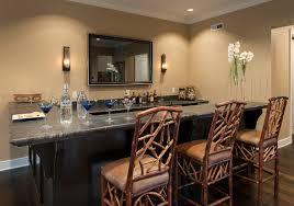decoration small home bar with titanium black leathered granite