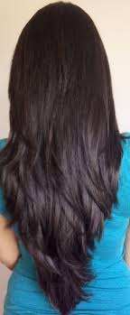long layered cuts back long layered haircut back view best 25 v layered haircuts ideas on
