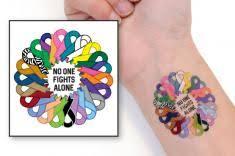 cancer awareness temporary tattoos choose