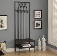 Entryway Bench With Storage And Coat Rack Entryway Bench Coat Rack Ebay