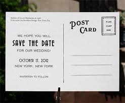 postcard save the dates post card save the date back the real wedding post