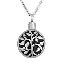 necklace urns for ashes luckyjewelry cremation jewelry tree of necklace urn pendant