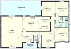 plan maison de plain pied 3 chambres plan maison plein pied 120m2 cuisine moderne en bois 10 plan