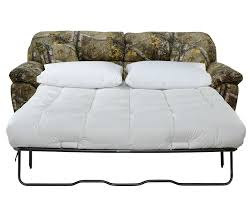 queen sleeper sofa in mossy oak or realtree camouflage fabric by