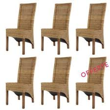 lot de 6 chaises salle à manger rotin design lot 6 chaises en rotin marron hamilton chaises de