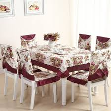 table and chair covers 13 pieces set embroidery table cloth set vintage tablecloth for