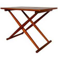 caign style side tables danish caign style folding side table at 1stdibs