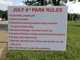 Funny 4th Of July Memes - retail hell underground 4th of july park rules signage