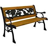 Wrought Iron Bench Seat Amazon Com Wrought Iron Benches Patio Seating Patio Lawn