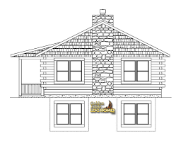 drawing of a house with garage golden eagle log and timber homes floor plan details santa fe 1232ar