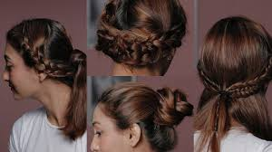 brunette easy hairstyles how to style simple braids in 4 different ways quick and easy
