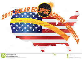 Nebraska Usa Map by 2017 Total Solar Eclipse Across Usa Map Vector Illustration Stock