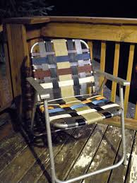 Rubber Upholstery Webbing Refurbish An Old Folding Lawn Chair With Seatbelt Webbing U0026 Old