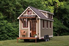 homes wheels tiny houseu parked front fresno tiny house timbercraft homes cozy modern home wheels