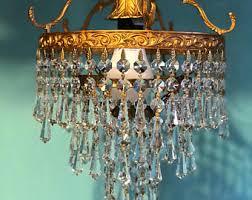 Vintage Crystal Chandeliers Crystal Chandelier Etsy