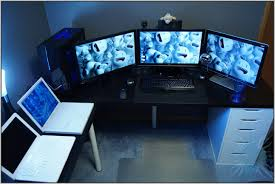 Computer Set Ups by Brilliant Two Computer Desk Setup With Cool Computer Setups And