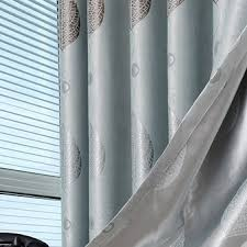 Light Blue Curtains Blackout Fancy Light Blue Geometrical Printing Curtains For Blackout Style