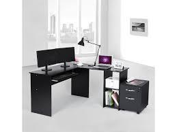 bureau informatique conforama superbe bureau informatique d angle noir avec etagère neuf sglcd810b