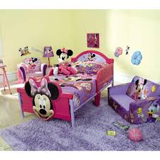Minimalist Bedroom with Purple Minnie Mouse Toddler Bedroom Decor
