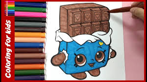 shopkins coloring pages cheeky chocolate coloring tutorial video