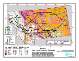 Montana Land Ownership Maps by Download Free Montana Wind Energy Maps