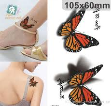 waterproof 3d sticker butterfly design up
