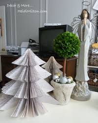 book page christmas tree easy diy