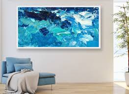 extra large wall art ocean painting sea painting abstract art zoom