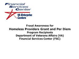 fraud awareness for homeless providers grant and per diem program