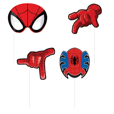 spider man photo booth props 8ct