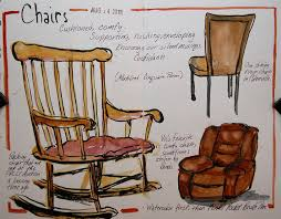 hudson valley sketches chairs with a modified cinquain poem