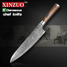 damascus kitchen knives xinzuo 8 inches chef knife damascus steel kitchen knives high