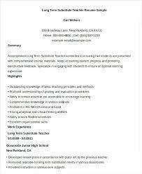 sample resume substitute teacher sample covering letter for resume