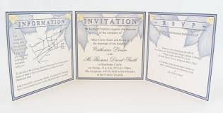tri fold wedding invitations essential and optional information for wedding invitations a s